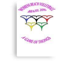 Brazil 2016 Beach Volleyball   Mk1 Canvas Print