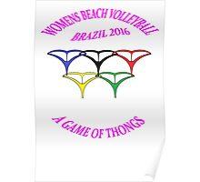 Brazil 2016 Beach Volleyball   Mk1 Poster