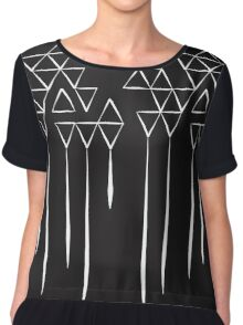 Dark Triangles IV Chiffon Top