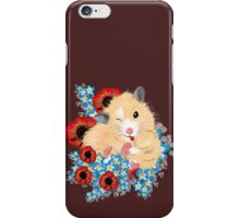 Cute Golden Syrian Hamster by LeahG iPhone Case/Skin
