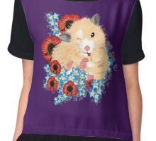 Cute Golden Syrian Hamster by LeahG Chiffon Top