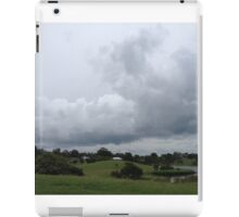 Storm clouds over river iPad Case/Skin