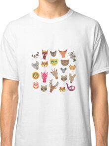Funny animals on grey Classic T-Shirt