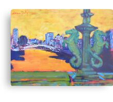 From Grattan Bridge, Dublin Metal Print