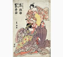 Manamoto No Raido and Yosie Hime - Toyokuni Utagawa - 1799 - woodcut Unisex T-Shirt