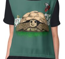 I Love my Tortoise cute cartoon Chiffon Top