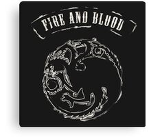 Fire and blood Canvas Print
