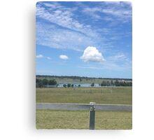 Cloud over lake Canvas Print