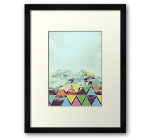 Triangle Mountain Framed Print