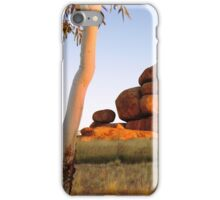 Sunset colours on the Devil's Marbles and ghost-gum iPhone Case/Skin