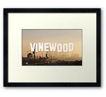 Vinewood Sign - GTA V Framed Print