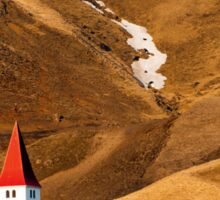 Church at Vik Sticker