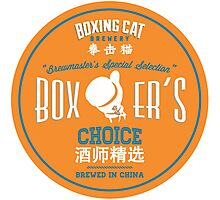 Boxing Cat Brewery  Boxer`s Choice Chinese Beer Photographic Print
