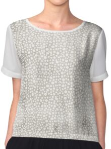 Delicately Pale Chiffon Top