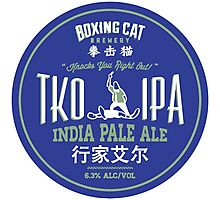 Boxing Cat Brewery TKO IPA  India Pale Ale Chinese Beer Photographic Print