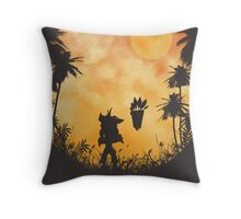 The return of Mr. Bandicoot Throw Pillow