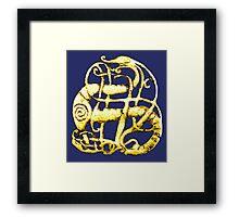 Viking dragon - Scandinavia, 11th century Framed Print