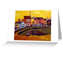 Crescent Quay, Wexford Greeting Card
