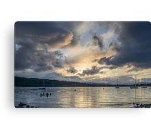 Evening Sky over Windermere Canvas Print