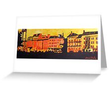 Wellington and Essex Quays, Dublin Greeting Card