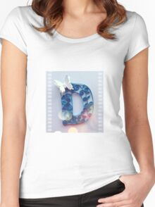 Quilling - Your initial D Women's Fitted Scoop T-Shirt