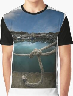 Padstow Harbour Cornwall Graphic T-Shirt