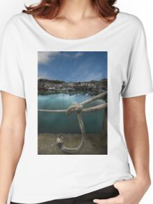 Padstow Harbour Cornwall Women's Relaxed Fit T-Shirt