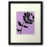 Leaning Flower on Pink Framed Print