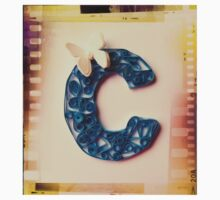 Quilling - Your initial C One Piece - Short Sleeve