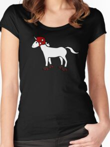Roller Derby Unicorn Women's Fitted Scoop T-Shirt