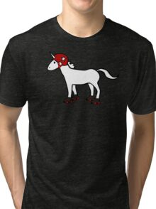 Roller Derby Unicorn Tri-blend T-Shirt