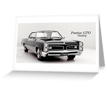 Pontiac GTO hardtop 1966 Greeting Card