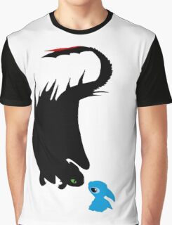 Dragon and alien Graphic T-Shirt