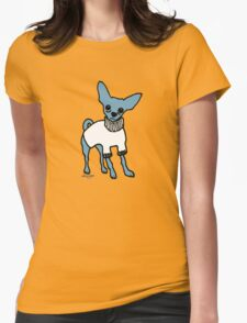 Wildago's Blue Chihuahua Womens Fitted T-Shirt