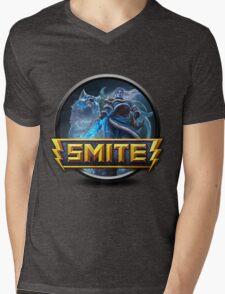 Smite Skadi Logo Mens V-Neck T-Shirt