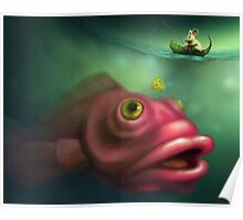 Mouse Fishing Poster