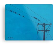Birds Wires 15  Metal Print