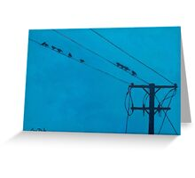 Birds Wires 15  Greeting Card