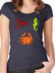 Sea Inhabitants Women's Fitted Scoop T-Shirt