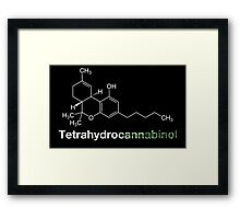 THC Tetrahydrocannabinol Chemical Formula Compound Framed Print