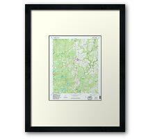 USGS TOPO Map Alabama AL Addison 303079 1969 24000 Framed Print
