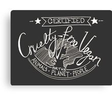 Certified Vegan- inverted colours Canvas Print
