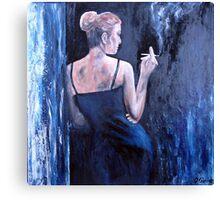 Blue Smoke Canvas Print