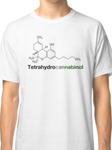 THC Tetrahydrocannabinol Chemical Formula Compound  Classic T-Shirt