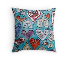 Heart Puzzle II Throw Pillow