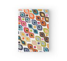 carnival ikat white Hardcover Journal