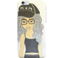Mom Cap Girl iPhone Case/Skin