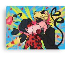 Miraculous Ladybug and Chat Noir Canvas Print