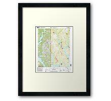 USGS TOPO Map Alabama AL Arley 303145 2000 24000 Framed Print
