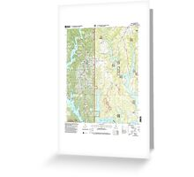 USGS TOPO Map Alabama AL Arley 303145 2000 24000 Greeting Card